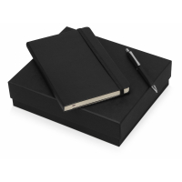 Подарочный набор Moleskine Hemingway с блокнотом А5 и ручкой, черный