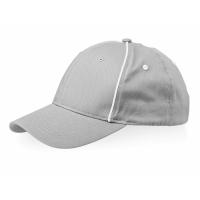 Бейсболка Break 6-ти панельная, серый/белый
