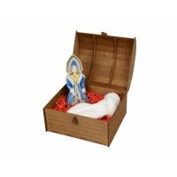 Подарочный набор «Новогоднее настроение»: кукла-снегурочка, варежки