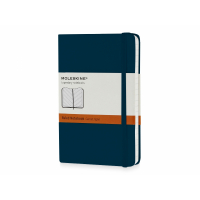 Записная книжка Moleskine Classic (в линейку) в твердой обложке, Pocket (9x14см), голубой сапфир