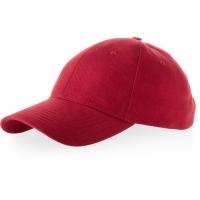 Бейсболка Bryson, 6 панелей, красный