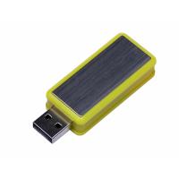 USB 3.0- флешка промо на 64 Гб прямоугольной формы, выдвижной механизм