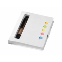 Набор стикеров Reveal с ручкой и блокнотом А7, белый