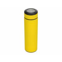 Термос Confident с покрытием soft-touch 420мл, желтый